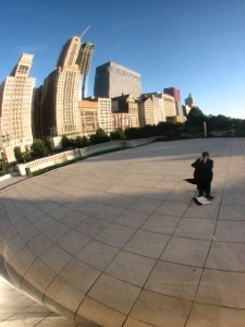 Catherine snapping the Bean in Chicago 10 2008