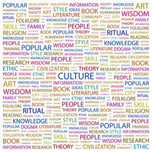 CULTURE. Wordcloud illustration.
