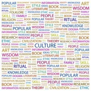 CULTURE. Wordcloud illustration.