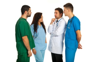 Doctors having conversation