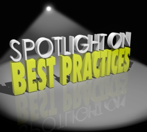 Spotlight on Best Practices Words Great Concepts Successful Idea
