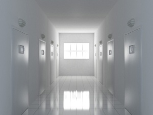 3d illustration of a corridor