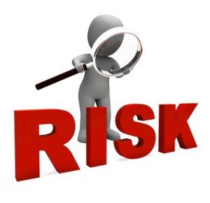Risky Character Showing Dangerous Hazard Or Risk
